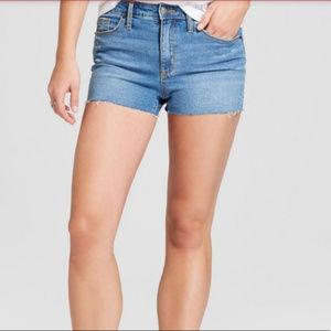 Universal Thread High Rise Shortie Shorts Raw Hem